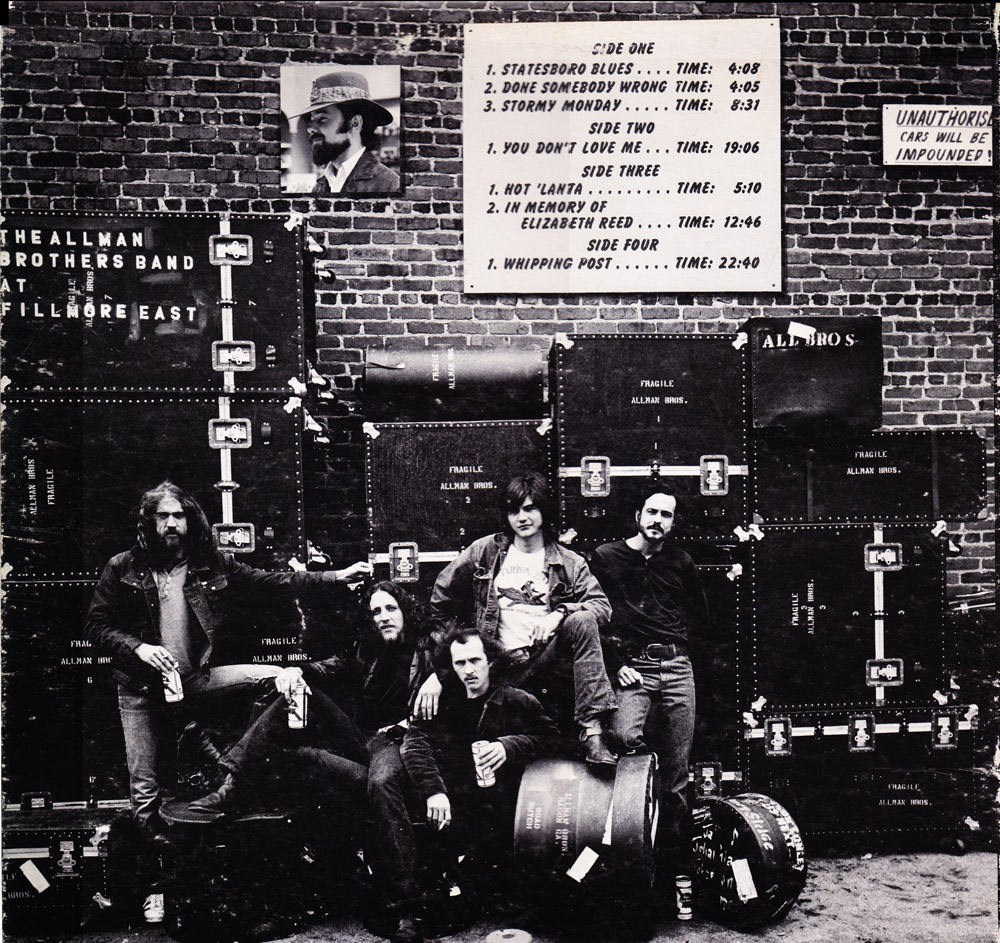 The Allman Brothers at Fillmore East - Album cover location