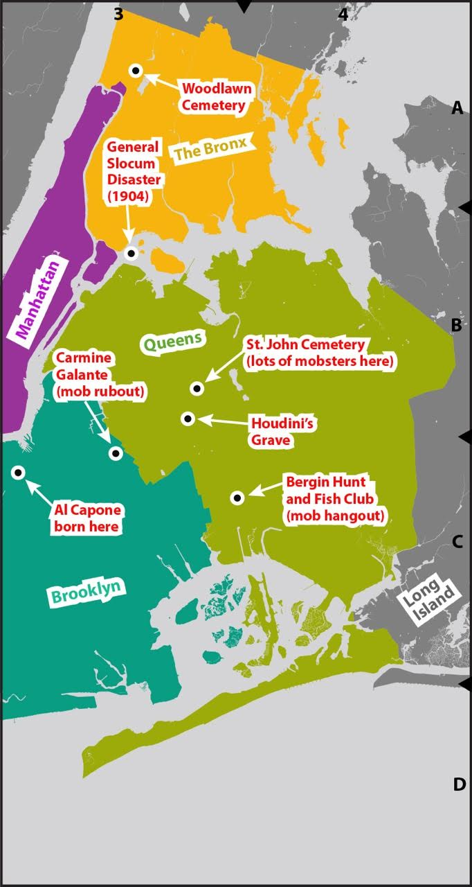 Queens Map New York on