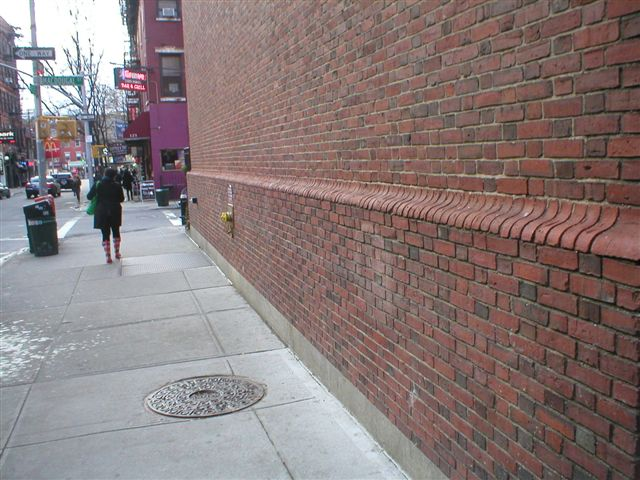Heres A Continuation Of The 4 Foot Tall Decorative Brick Ledge Around Back Building