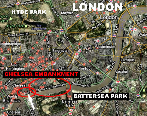 London UK Album Cover Locations From PopSpots - Where is london located