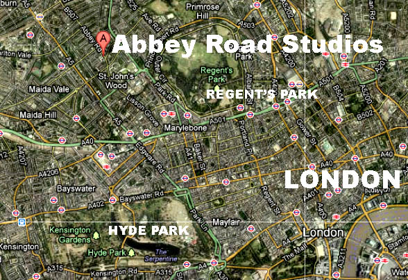 London UK Album Cover Locations from PopSpots