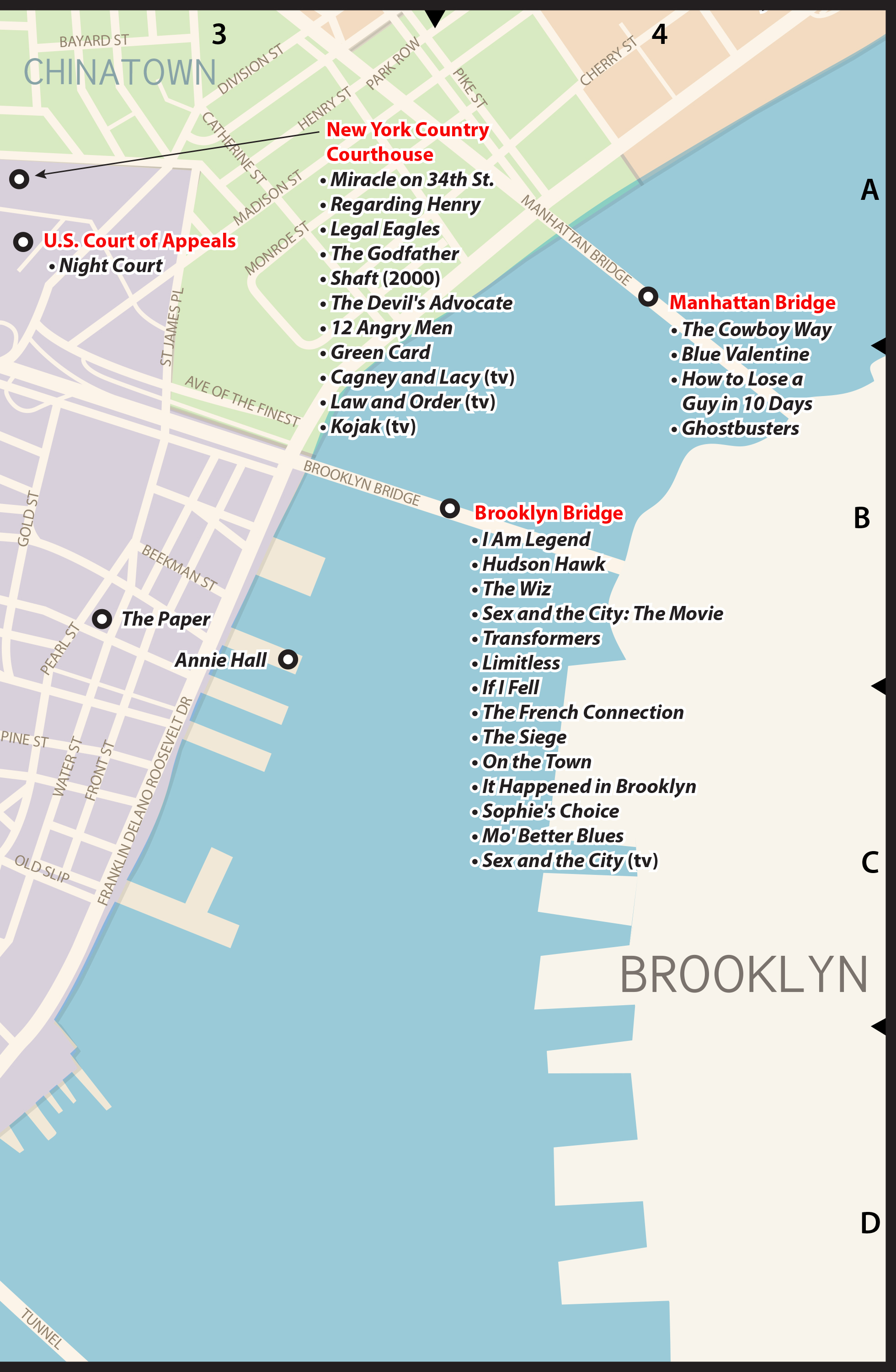Subway Map From 88 St To 59th Street.The Popspots Guide To Pop Culture In New York City